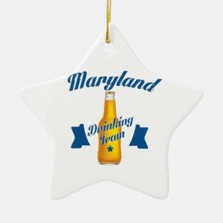 Équipe potable du Maryland Ornement Étoile En Céramique