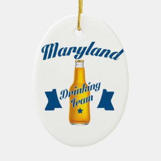 Équipe potable du Maryland Ornement Ovale En Céramique