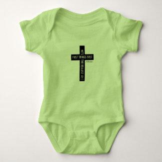 équipement religieux croisé Jésus du bébé Body