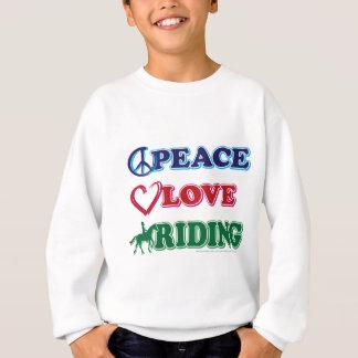 Équitation d'amour de paix sweatshirt