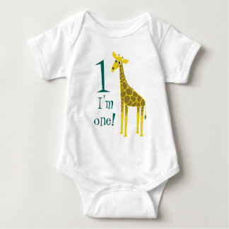 Ęr anniversaire de girafe mignonne body