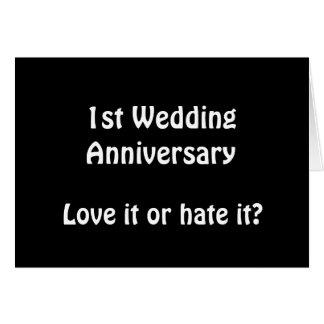 ęr Anniversaire de mariage Carte De Vœux