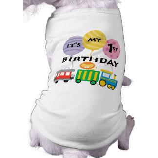 ęr Anniversaire de train d'anniversaire T-shirts Pour Chien