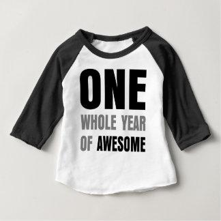 ęr Anniversaire un an de T-shirt impressionnant