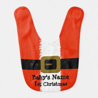 Ęr bavoir de Père Noël de Noël du bébé