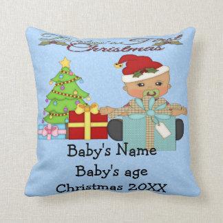 Ęr carreau de Noël du bébé Coussin Décoratif