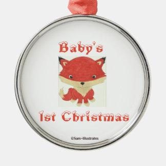 Ęr ornement d'arbre de Fox de bébé de Noël du bébé