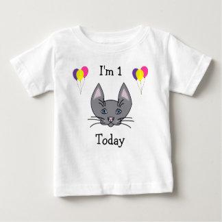 ęr T-shirt de chat d'anniversaire
