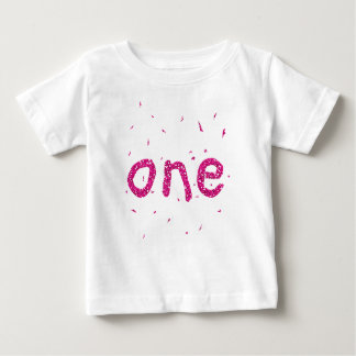 Ęr T-shirt de fête d'anniversaire de bébé rose de