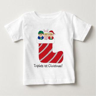 Ęr T-shirt de Noël de triplets