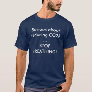 Ernstig over het verminderen van Co2? … DE T Shirt
