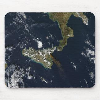 Éruption de Mt l'Etna en Sicile Tapis De Souris