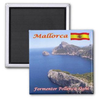 Es - L'Espagne - la Majorque - la vue de Formentor Magnet Carré