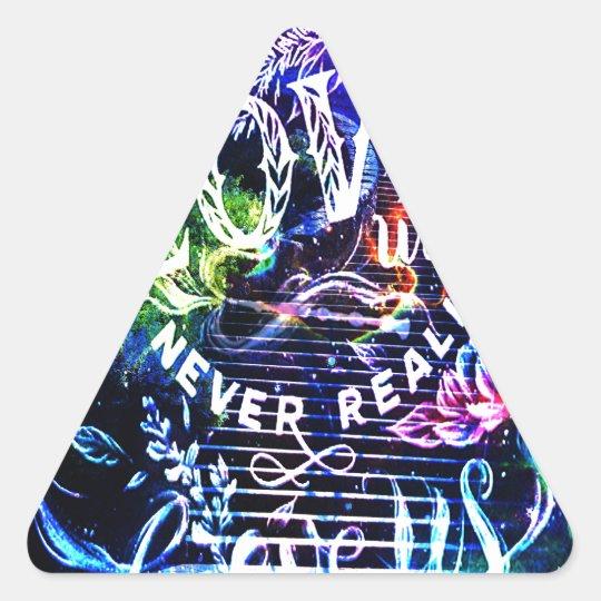 Escalier celui qui nous aiment sticker triangulaire