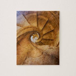 Escalier de haut en bas de spirl, Portugal Puzzle