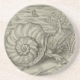 Escargot Dessous De Verre En Grès