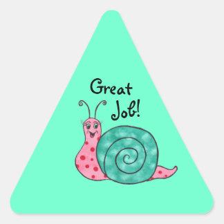 Escargot heureux - autocollant personnalisable du