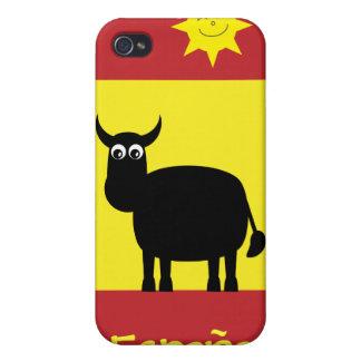 Espagnol mignon Taureau, Sun et drapeau Étuis iPhone 4