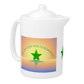 Espéranto : Juste la théière de début