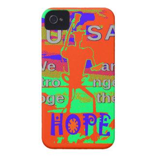 Espoir coloré des Etats-Unis Hillary nous sommes Coques iPhone 4