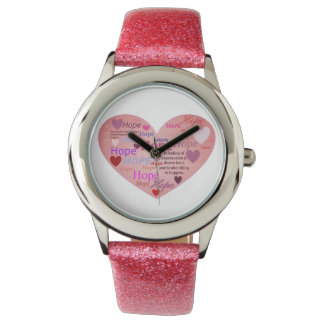 Espoir dans une montre de parties scintillantes de