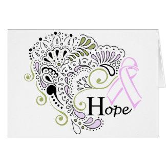 Espoir de cancer du sein - carte de note