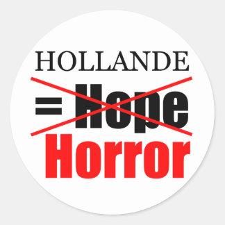 Espoir de Hollande pas = horreur - autocollant de