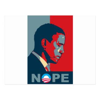 Espoir ? NOPE ! Gardez le changement, Barack ! Carte Postale