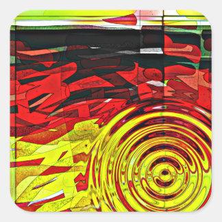 Esprit d'abstractions sticker carré