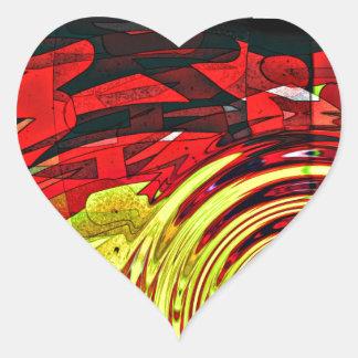Esprit d'abstractions sticker cœur