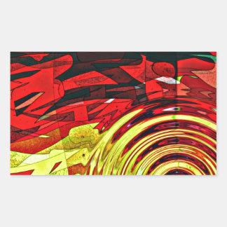 Esprit d'abstractions sticker rectangulaire