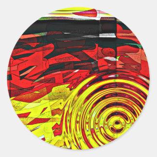 Esprit d'abstractions sticker rond