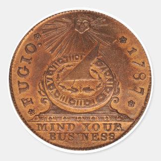 Esprit de cent de Fugio votre penny d'en cuivre d' Autocollant