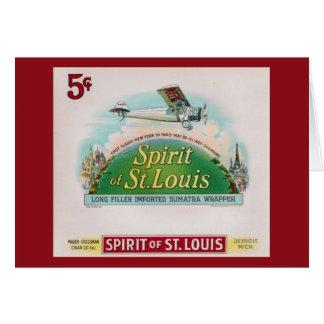 Esprit de l'étiquette vintage de cigare de St Carte De Vœux