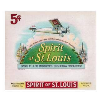Esprit d'étiquette vintage Detroit de cigare de St Tirage Photo