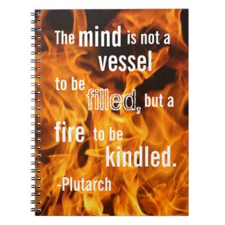 Esprit sur le feu, carnet classique de citations
