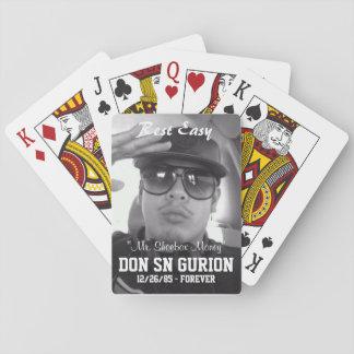 Essentiële laadklep: RIP TREKT GURION- Pokerkaarten