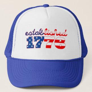 Est de casquette de drapeau américain. 1776