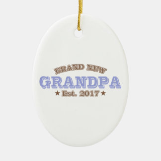 Est tout neuf de grand-papa. 2017 (pourpre) ornement ovale en céramique