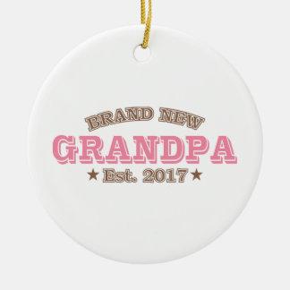 Est tout neuf de grand-papa. 2017 (rose) ornement rond en céramique