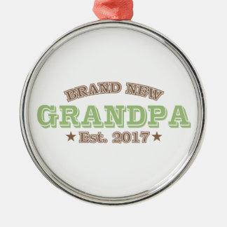 Est tout neuf de grand-papa. 2017 (vert) ornement rond argenté