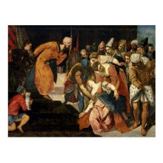 Esther avant Ahasuerus, 1548 Carte Postale