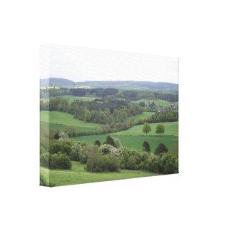 Et agréable copie de toile étirée par terre verte