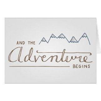Et l'aventure commence des cartes de note