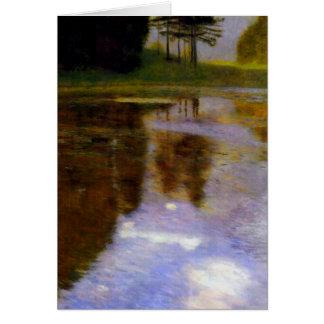 Étang tranquille en parc d'appel par Gustav Klimt Carte
