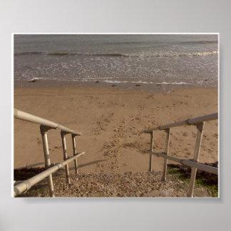 Étapes à la plage