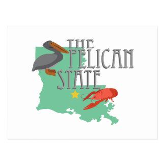 État de pélican cartes postales