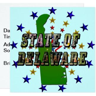 État de texte et de carte d'image de Delaware