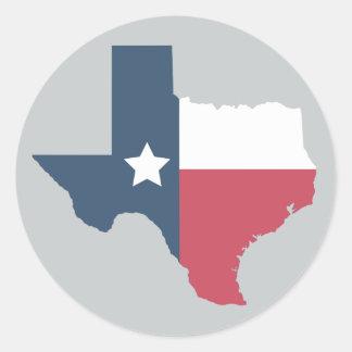 État du Texas - autocollants de drapeau