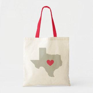 État mignon du Texas avec le sac fourre-tout rouge